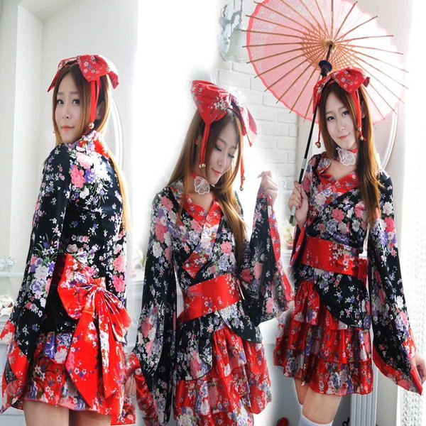 Compre Envío Gratis Nueva Lencería Sexy Cosplay Conjunto Completo De Flor  De Cerezo Pesado Cosplay Anime Traje Kimono Japonés Lolita Lolita Princesa