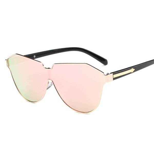 New Fashion Sunglasses Square Conjoined Spectacle Lens Famous Brand Design Rimless Summer Men Women Sun Glasses UV400