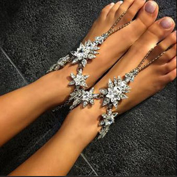 Anklet for women Fashion crystal Jewelry Wedding Barefoot Sandals