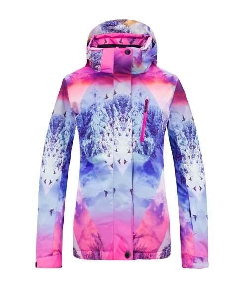 2018 New Women Ski Jacket Waterproof 10000 Super Warm Skiing Snow Jacket Female High Quality Winter Snowboard Ski Clothing