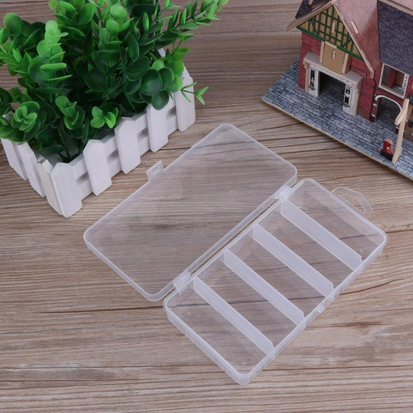 best selling Multifunctional High Strength 5 Compartments Storage Case Box Transparent Visible PVC Fishing Lure Spoon Hook Bait Tackle Box