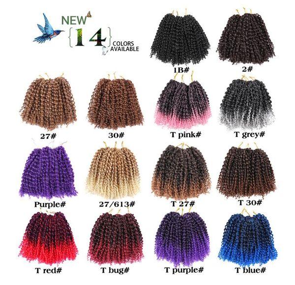 Compre 60 Hilos / Set 8 Pulgadas Corto Mali Bob Crochet Trenza ...