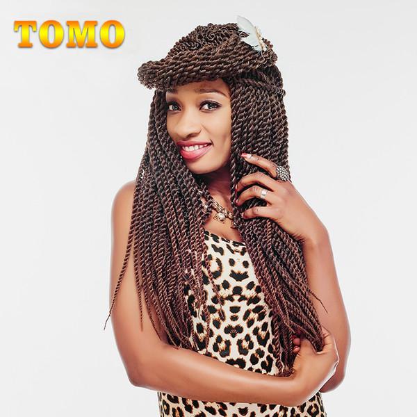TOMO Twist Crochet Braids Black Brown Silver Burgundy Red Crochet Braiding Hair Bluk Low Temperature Synthetic Hair Extension 22Strands/pack