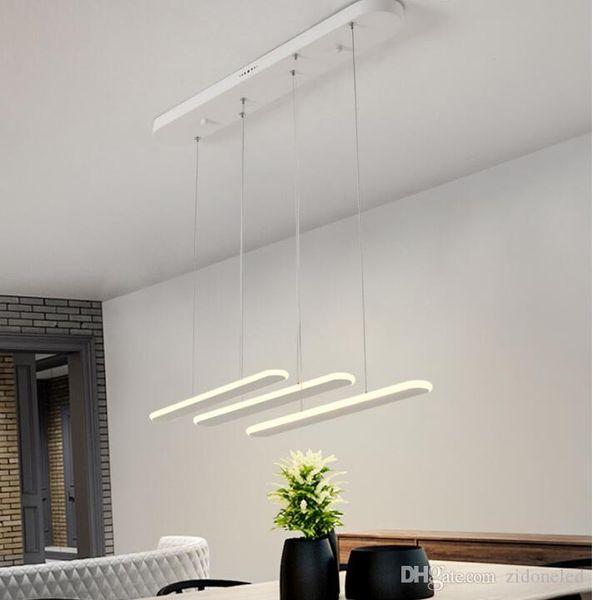 modern minimalist acrylic led pendant lights 3 heads chandelier lighting 60W indoor lamps pendant lights for kitchen Living room