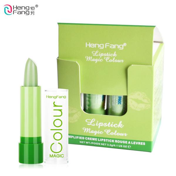 HengFang Natural Fruity Magic Green Lipstick Waterproof Mood Lipstick Moisturizing Color Changing Lip Stick DHL H114