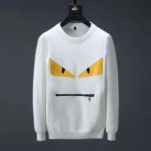Devil eyes new sweater brand fashion letter embroidery sweater winter men's round neck long-sleeved sweater men's designer hoodie new listin