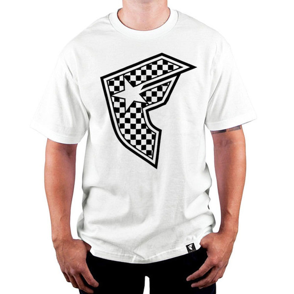 Envío gratis 2018 Famous Stars and Straps camiseta de caballero Checker camiseta blanca cuello redondo camiseta impresa Streetwear de hombre