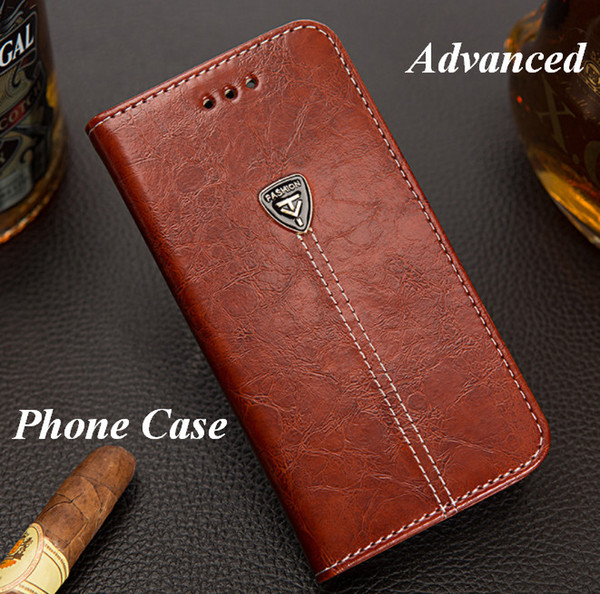 Advanced PU Leather Cell Phone Case for Sumsung Iphone HuaWei Package With Wallet & Support Clip Case ZPG055