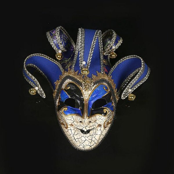 Hanzi_masks 1PC HPT!! Newly high-end Venetian masquerade mask mask Europe and the United States Halloween clown mask show supplies