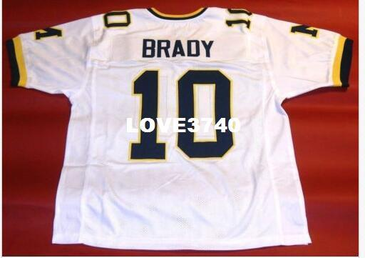 top popular Men #10 TOM BRADY CUSTOM MICHIGAN WOLVERINES RETRO College Jersey size s-4XL or custom any name or number jersey 2019