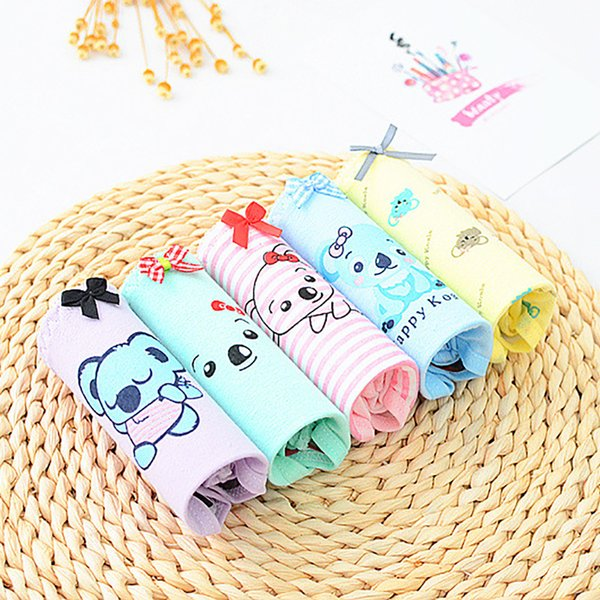 Sale 5PCS/lot Women Panties Sexy Cotton Underwear Cute Printed Intimate Briefs Breathable Underpants Female Cute koala