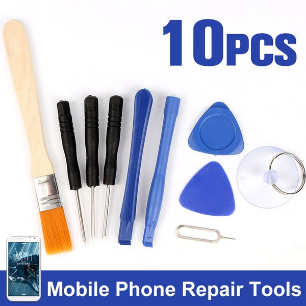 1 Set 9 In 1 Phone Opening Pry Disassembly Ferramentas Tools Screwdrivers Repair Tool Kit For IPhone 4 5S 6 Plus For Samsung S6