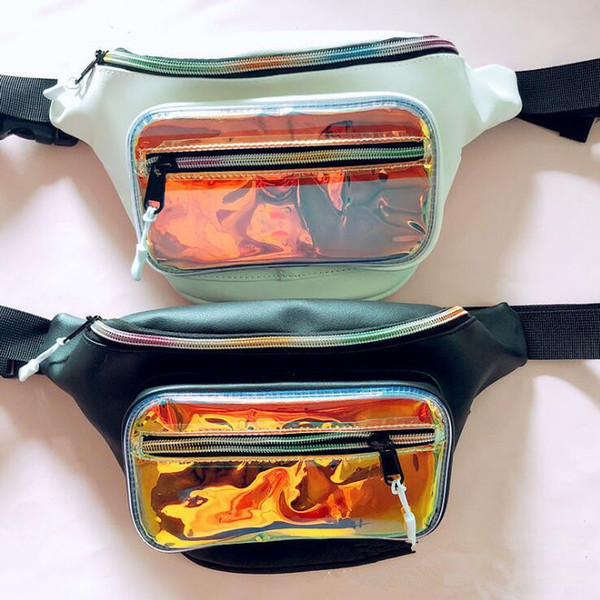 4b7c11c7d4 Holographic Fanny Pack Women Laser Bum Bag Beach Shiny Pvc Waist Bags  Hengreda Raves Hip Bag Fashion Hologram Transparent Bag Fannypack Shoe Bags  From ...