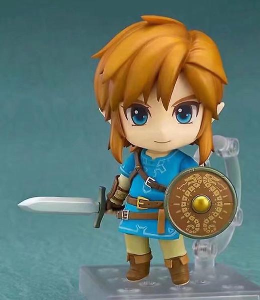 action figure pvc Legend of Zelda Link Figure Breath of The Wild 733 DX Horse Ver Ganon Yahaha Q Nendoroid 10CM Model