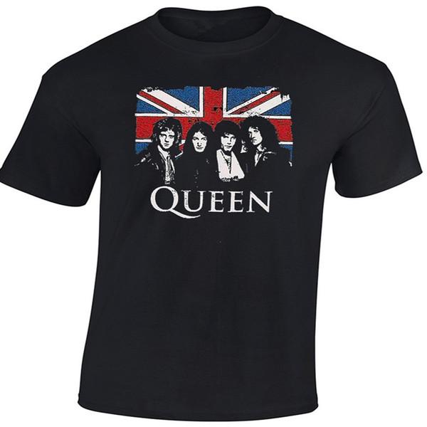 Mannen Nieuwe Trend Fashion T-shirts Queen T-Shirt Brian Kan Freddie Mercury 100% Katoen Tee Size O-hals Korte Mouw