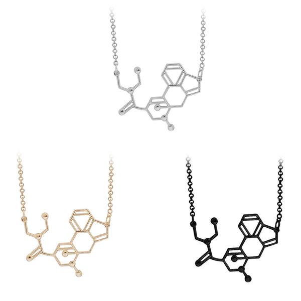 Compre Molecular Colgante Collar Física Química Estructura Ciencia Geométrica Artículo En Forma Joyería De Las Mujeres A 3 22 Del Cxk3 Dhgate Com