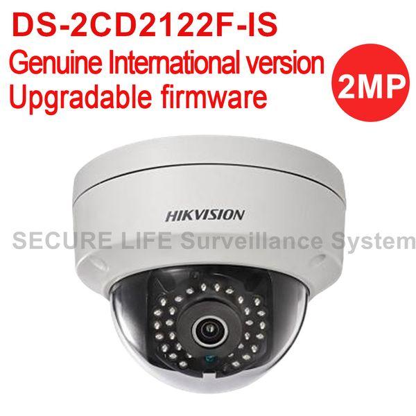 Hikvision DS-2CD2122F-IS International version 2MP dome IP camera POE, mini CCTV security camera IK10 H.264