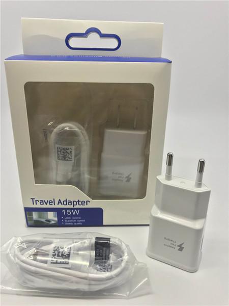 2-in-1-Wandladegeräte-Kits Schnellladereise-Ladegerät + 1,2 M Micro-USB-Datenkabel mit Kleinpaket für Samsung Galaxy S5 S6