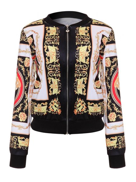 DARSJUCBD 2018 Sexy Indie Folk Giacca donna Dashiki Africano stampato Giacca casual Bomber S M L XL