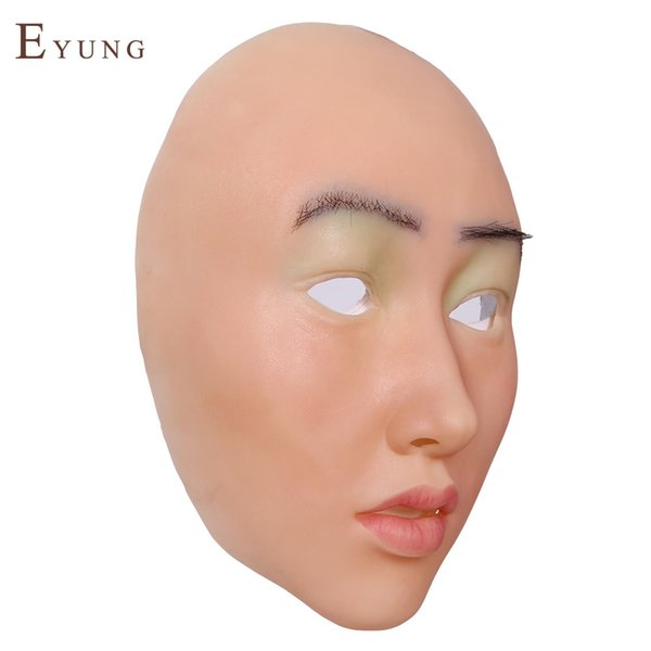 yirong shivell silicone female mask masquerade for man,crossdresser, realistic female face for halloween,drag queen cosplay masks