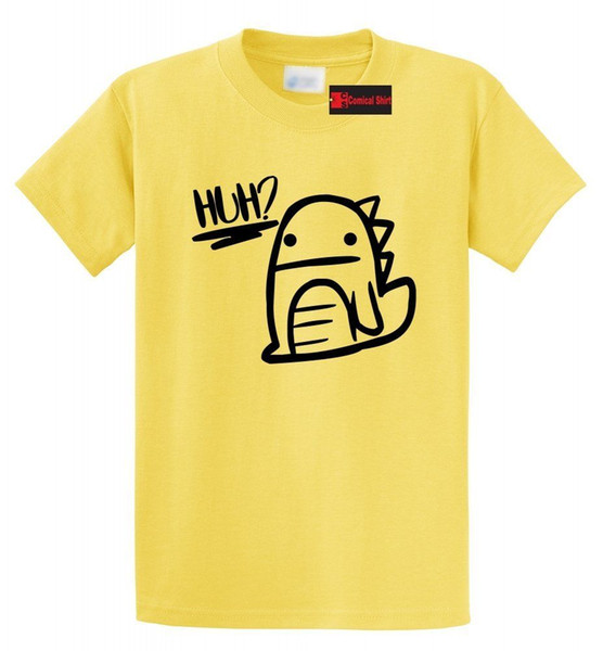 af705545 Huh Dinosaur Graphic T Shirt Cute Dino Graphic Tee Shirt Funny free  shipping Unisex Casual tee