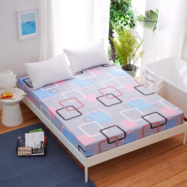 العلامة التجارية الجديدة القادمة مزودة غطاء مفرش ورقة مع الشريط المطاطي الشاملة المطبوعة ملاءة سرير الساخن بيع بياضات السرير LREA