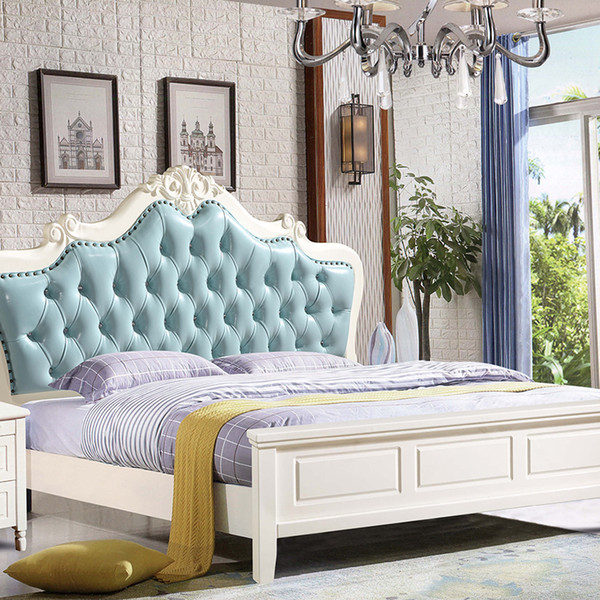 2019 European Solid Wood Bed Simple Leather Master Bedroom Bed 1.8 M Double  Princess Bed Luxury Bedroom Set Combination From Sijixianjiaju, $492.47 |  ...