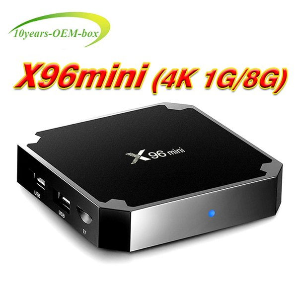 High quality Android 7.1 TV BOX X96 mini Amlogic S905W Quad-core 1G/8G 4K H.265 WIFI smart media player