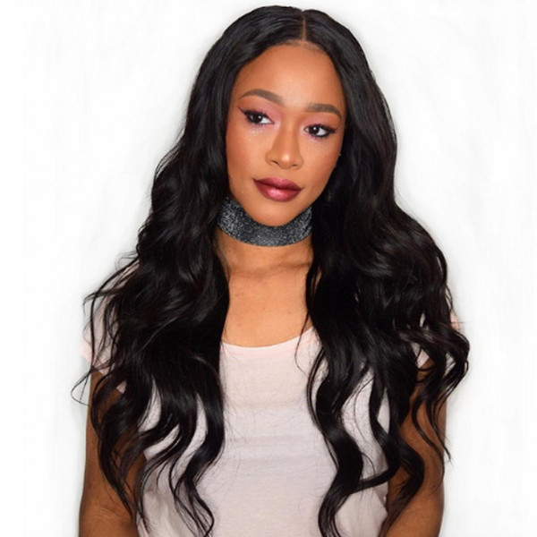 Peruvian Virgin Human Hair Lace Front Wig Body Wave Glueless Full Lace Wig with Baby Hair FDshine