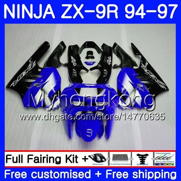 Body For KAWASAKI NINJA ZX900 ZX 9R Factory blue hot 1994 1995 1996 1997 221HM.45 ZX 9 R 900 900CC ZX-9R 94 97 ZX9R 94 95 96 97 Fairing kit