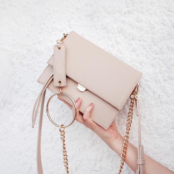 2018 Fashion Brand Women Bag Chain PU Leather Shoulder Bag Designer Small Square Girls Crossbody Female Messenger Bags 287