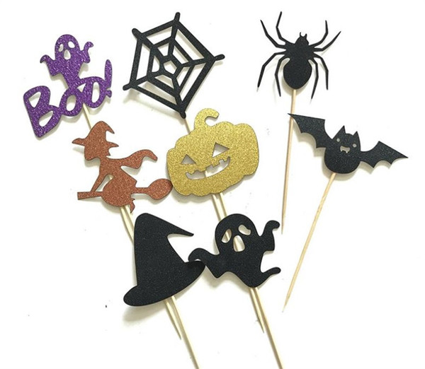 All Saints Day Halloween Cupcake Toppers Birthday Cake Toppers Wedding Favors Party Gifts Halloween Decorations 3 4yn gg 60pcs