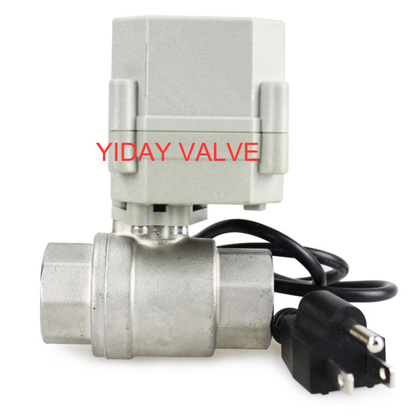 "High quality free shipping 1/2'',3/4"" 1'' 110V/220V NC Motorized Ball Valve, NO/NC 2/3 Way BRASS/SS 1/2""-1"" Available"