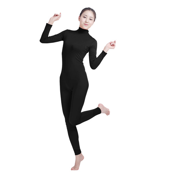 5f12021f060 Ensnovo Unisex Cosplay Nylon Spandex Jumpsuits and Rompers Lycra Bodysuit  Turtleneck Spandex Long Sleeve Suit Footless Unitard