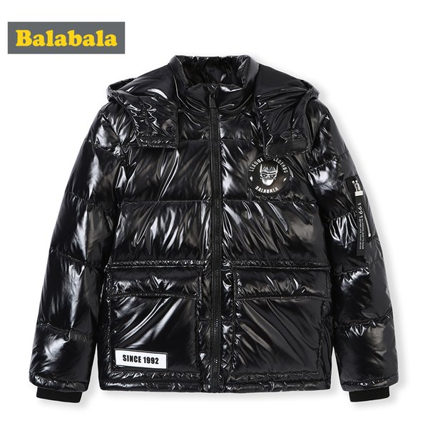 Balabala New Style Kinder Daunenjacke Jungen Winter Ski Wear Kinder Teenager Winterjacke Baby Boy Parka Schnee Warmer Mantel mit Kapuze