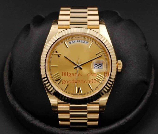 2018 Mens Day-Date 228238 Champagne Roman Dial 40mm NEW IN BOX Classic Series stainless steel mechanical movement Wristwatch
