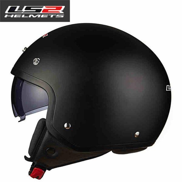 LS2 OF561 half face motorcycle helmet with sun shield lens retro open face vintage motorbike helmets summer vespa scooter helmet