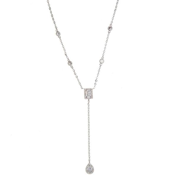 Горячий продавать новый 2018 Прекрасный шик Y lariat длинная серебряная цепь кулон ожерелья способа для женщин ювелирные изделия подарок длинная цепь