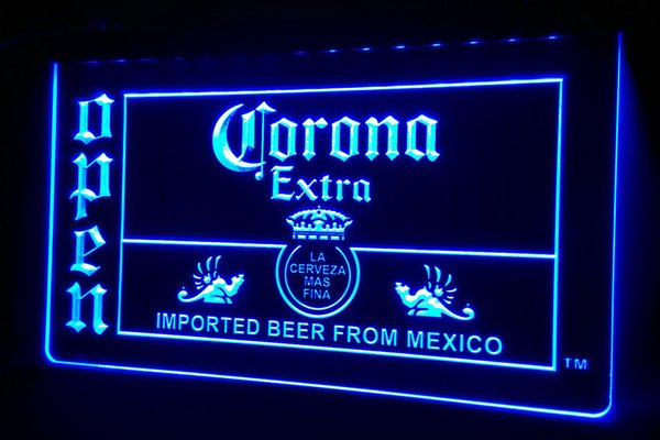 LS478-b Corona Beer OPEN Bar 3D LED Neon Light Sign Customize on Demand 8 colors to choose