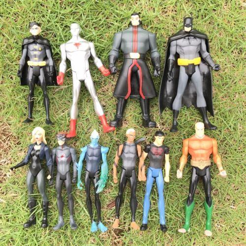 Promoción Regalo de Navidad Lot10pcs / Set DC Marvel UNIVERSE Young Justice League 4 '' Dc comics Figura de Acción de Juguete Niño Regalo