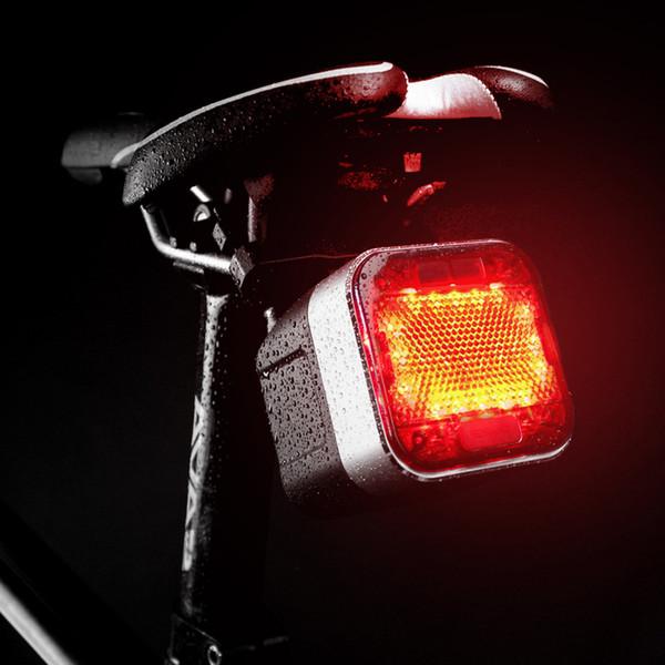 Bicycle Tail Lights USB Charging Night LED Warning Light Waterproof Multi-function Riding Bluetooth Speaker Bike Rear Lights