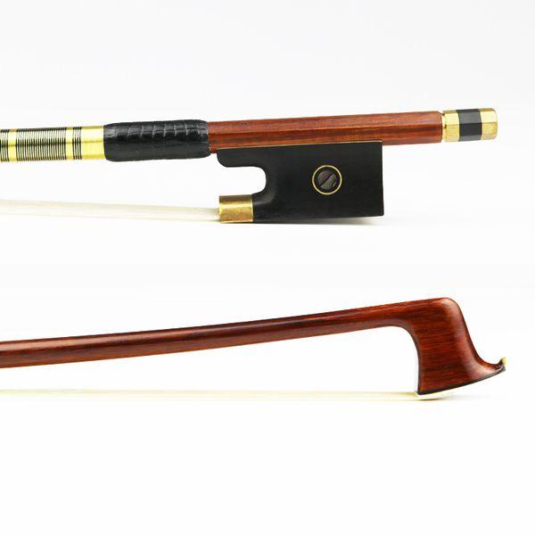Free Shipping NEW 4/4 Size Pernambuco Violin Bow Great Balance Ebony Frog Natural Horsehair Brass Alloy Violin Parts Accessories