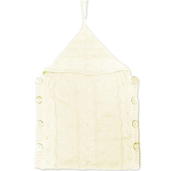 120pcs Baby Knitted Blankets Newborn Handmade Wraps Toddler Super Soft Sleeping Bags Kids Cotton Tassel Hat Winter Swaddling Nursery Bedding
