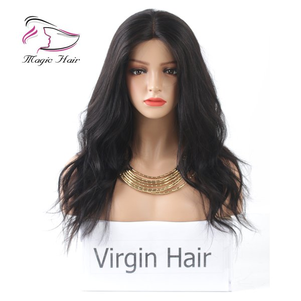 Natural Color Lace Front Human Hair Wigs for Women Wavy Brazilian Indian Peruvian Malaysian Virgin Hair Pre Plucked Hairline