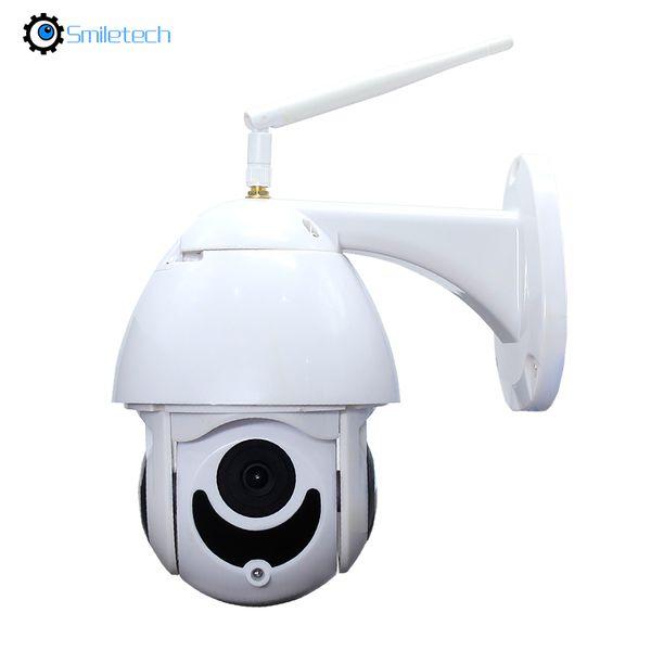 mini outdoor plastic WIF 1080P 128G TF card slot 30m IR night vision 4X optical zoom speed dome 2.0MP wireless PTZ camera