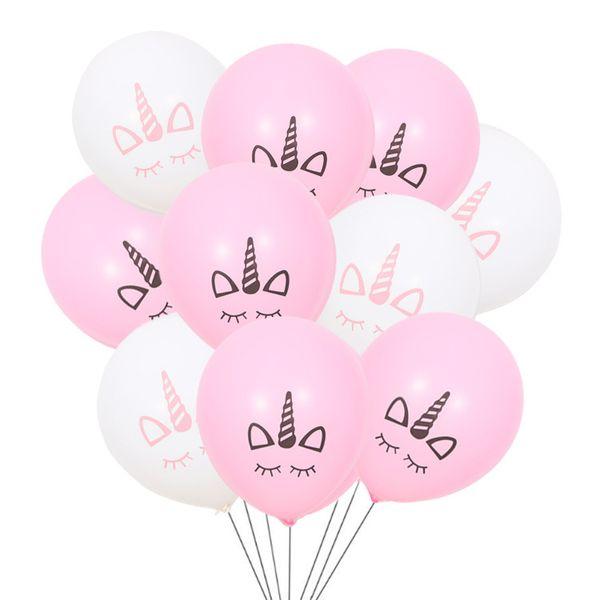 10pcs/lot 10inch Unicorn Party Supplies Latex Balloons Kids Cartoon Animal Horse Float Globe Birthday Party Balloons wholesale