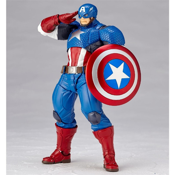 17CM Anime figure The avanger Captain American movable action figure collectible model toys for boys