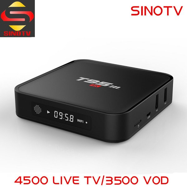 With 1 Year Sinotv Iptv 4500+ Channels Arabic Canada Latino America French  Package Android 6 0 4k Smart Tv Box 1080p Iptv Player Top Box Tv Tv Box
