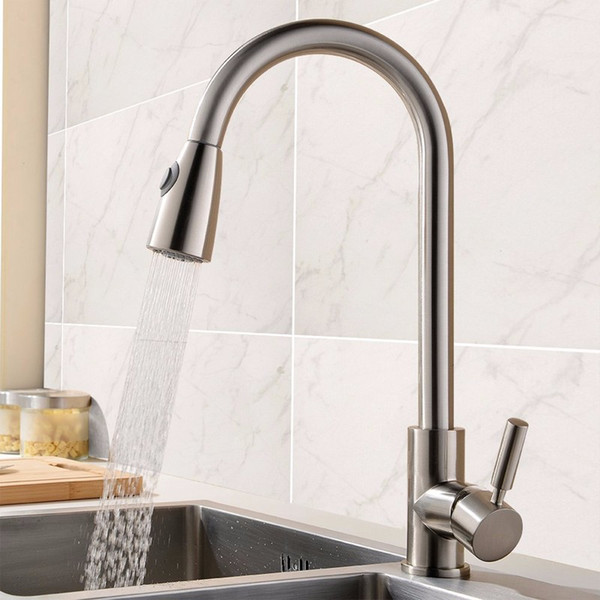 Excellent 2017 Kitchen Faucet Chrome Brushed Deck Mounted Pull Out Sprayer Vessel Sink Cold And Hot Mixer Tap From Saintlotus 95 22 Dhgate Com Home Remodeling Inspirations Genioncuboardxyz
