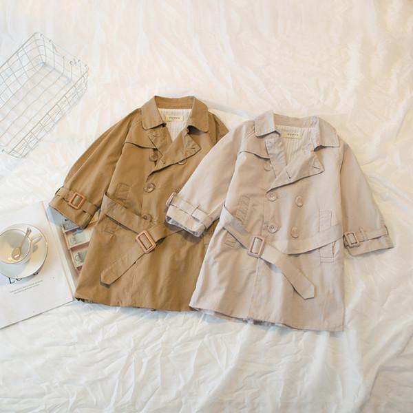 Avrupa ve Amerikan Tarzı Moda Siper Ceketler Çocuk Giyim Boys ve Kızlar için Uzun Casual Palto Sonbahar Kış Dış Giyim